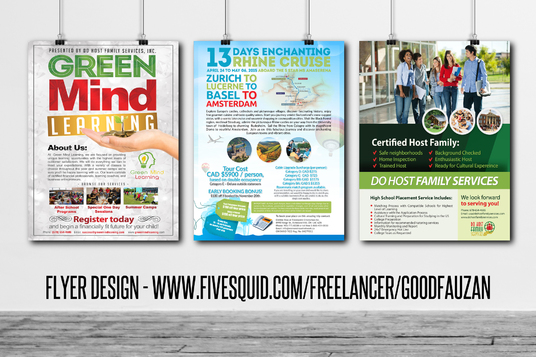 Get A Flyer Poster Or Leaflet Design For   Fivesquid