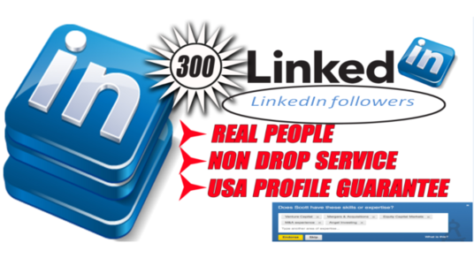 I will Give 300 USA and Uk LinkedIn followers