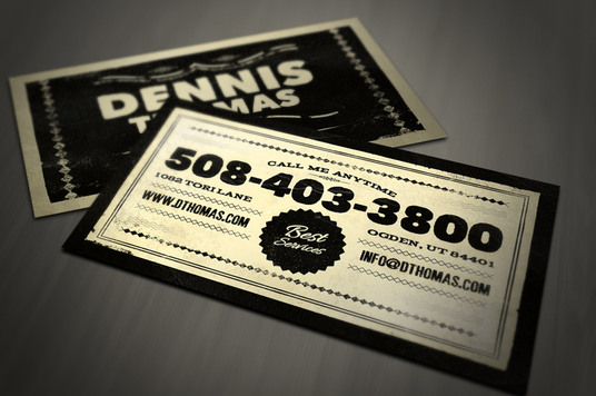 I will design the perfect RETRO Business Card for you