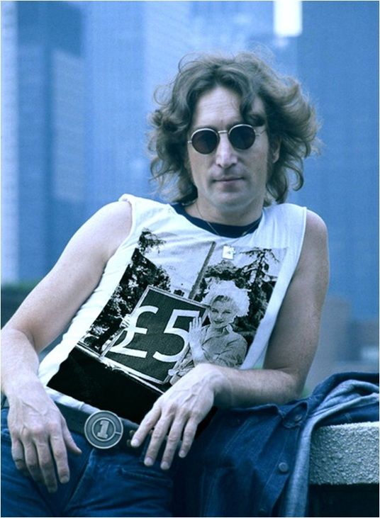 I will put you photo on John Lennon's Vest