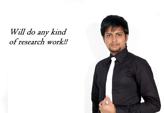 I will spend 4 hours on your research