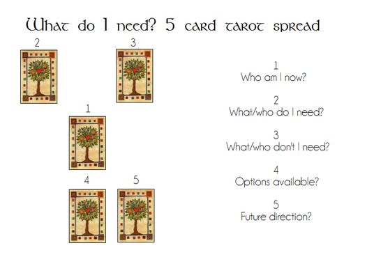 "I will give you a 5 card ""What Do I Need?"" tarot reading"