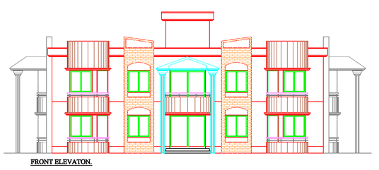 Civil Drawing Front Elevation : Draw d elevation in autocad for £ archi fivesquid