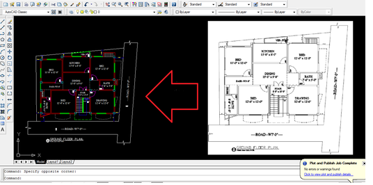 I will  draw anything in autocad 2D