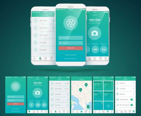 Design Android app GUI screens with unlimited revisions