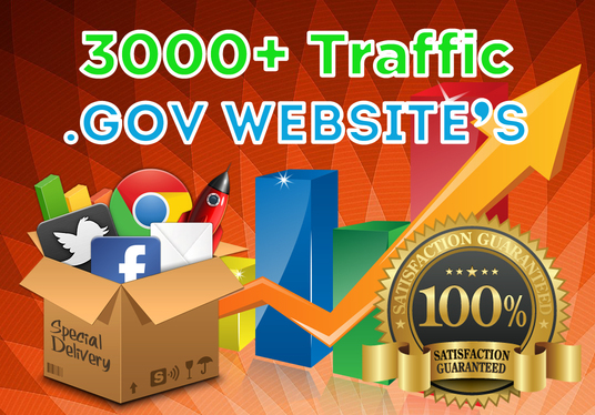 I will drive 3000+ Traffic from .GOV Websites to your website