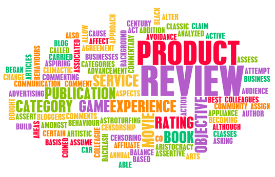 write a detailed product review (no products required)