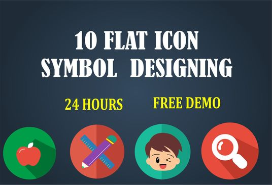 I will design 10 icons, symbols, buttons within 24 hours