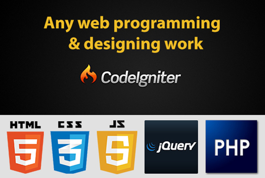 I will do any web programming and designing work
