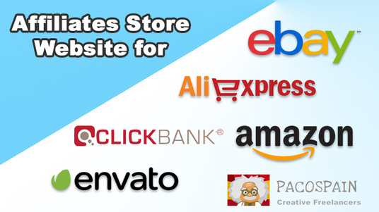 make Affiliates Store Website for Amazon or Aliexpress