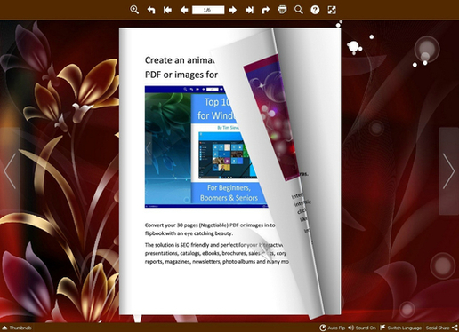 create an interactive flash flipbook from your PDF or images