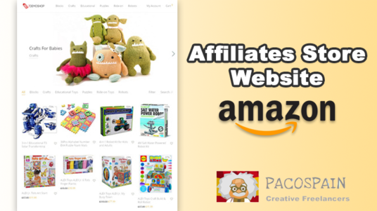 create complete auto Amazon affiliate store