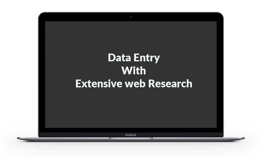 I will Data entry with extensive web research