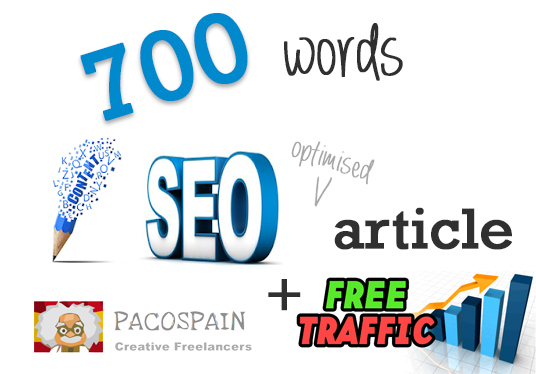 I will 700 words EPlC Content SEO Optimised Article + free Traffic