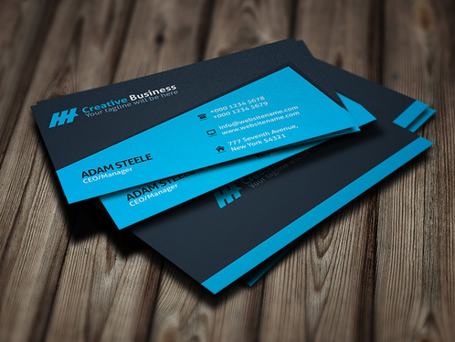 design OUTSTANDING 2sided business card and pro business card