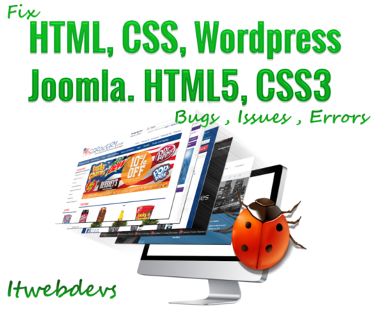 I will fix your HTML, CSS, jQuery, WordPress and Magento bugs