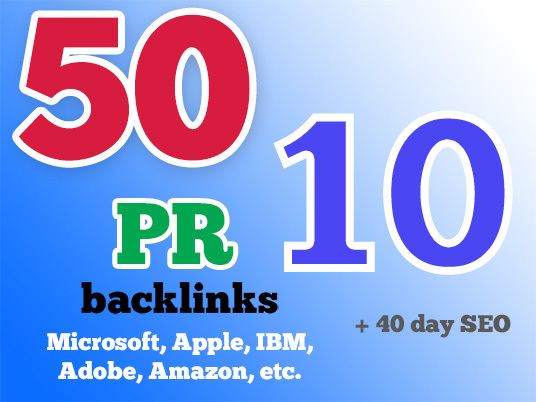 I will rank you First in Google, 50 PR10 Niche Backlinks, 40days SEO