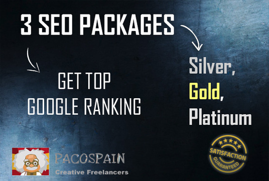 I will get you top Google ranking with these 3 SEO Packages