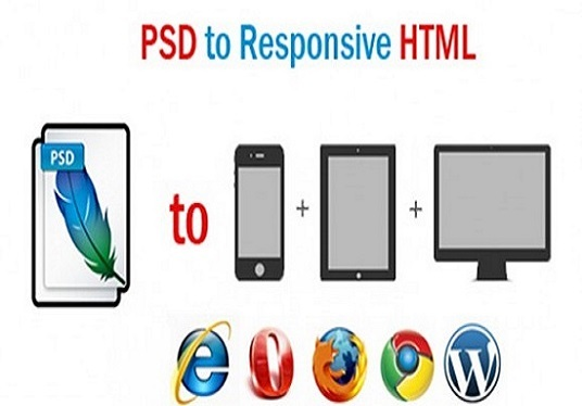 I will convert PSD to HTML with  Responsive for all device