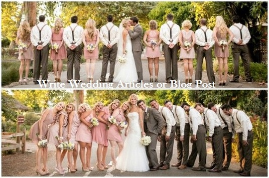 write a WEDDING related Article or Blog post for you