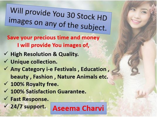 I will provide You 30 Stock HD images on any of the subject