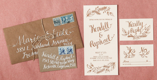 I will design wedding stationery - invitations, menus, place names etc