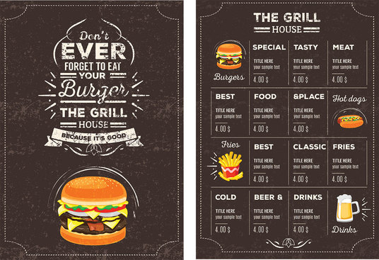 I will design a menu for your restaurant with UNLIMITED revisions