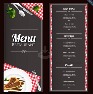 design a menu for your restaurant with UNLIMITED revisions