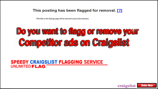 I will help to flagg your competitor any 10 craigslist ads ASAP