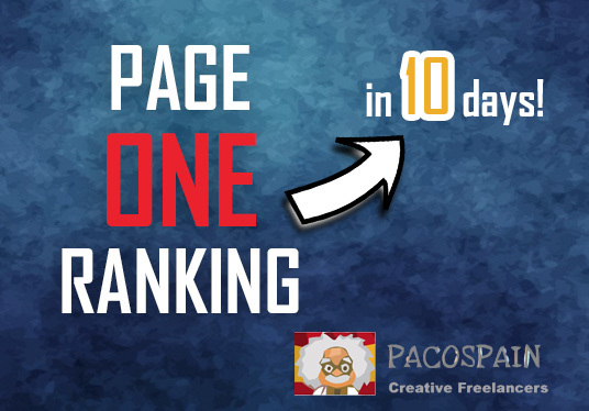 I will Get you Page 1 (ONE) ranking in 10-15 days!