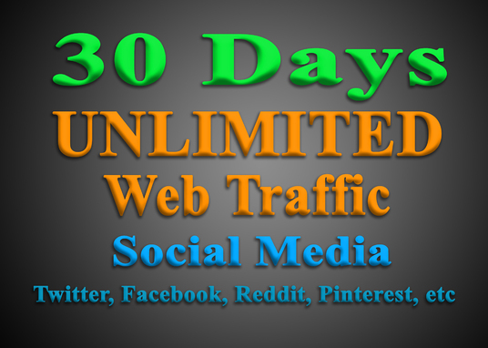 I will get UNLIMITED targeted WEB TRAFFIC from Social Media