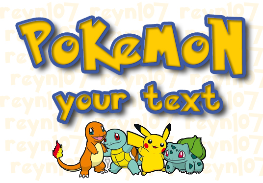 I will write a name or any text in POKEMON font
