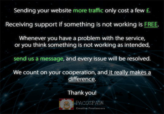 drive UNLIMITED genuine real traffic (Unique IP) to your website for one month