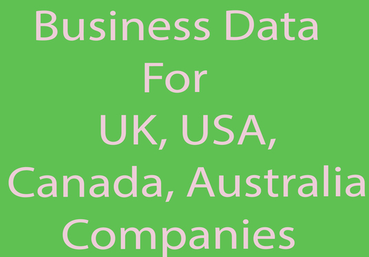I will deliver you with targeted 100 business data for UK, USA, Canada, Australia companies