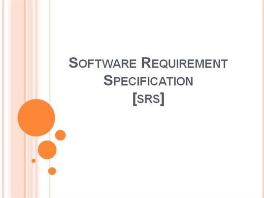 I will write software requirement specification document
