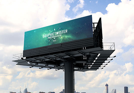 I will virtually display your image , logo or your website screen shot on the city billboard