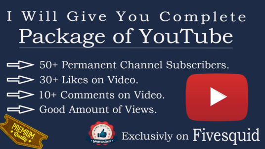 I will give you Complete YouTube Subscriber Package