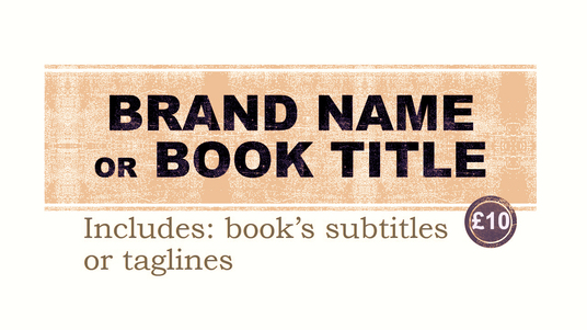 brainstorm 5 Brand names Book titles or Domain names