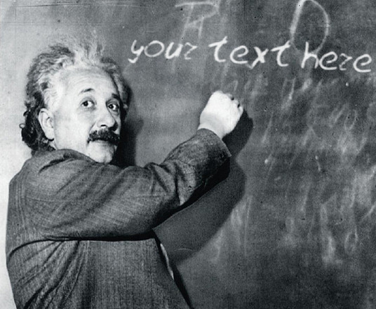 I will make Einstein write your 3 message on Blackboard