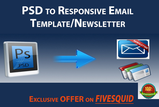 I will convert psd to email template with responsive