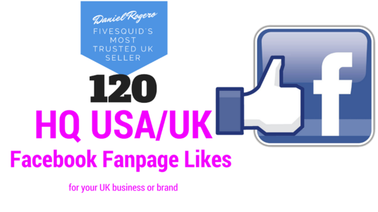 I will give you 120 HQ USA/UK Facebook Fanpage Likes for your UK business or brand