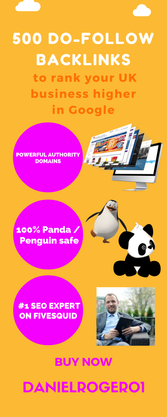 I will give you 500 do follow backlinks to rank your UK business higher