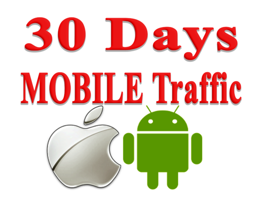 I will get MOBILE Web Traffic for 30 days