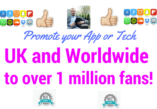 I will explosively tweet about your iPhone Android Windows app to 1 million tech fans in 24 hours