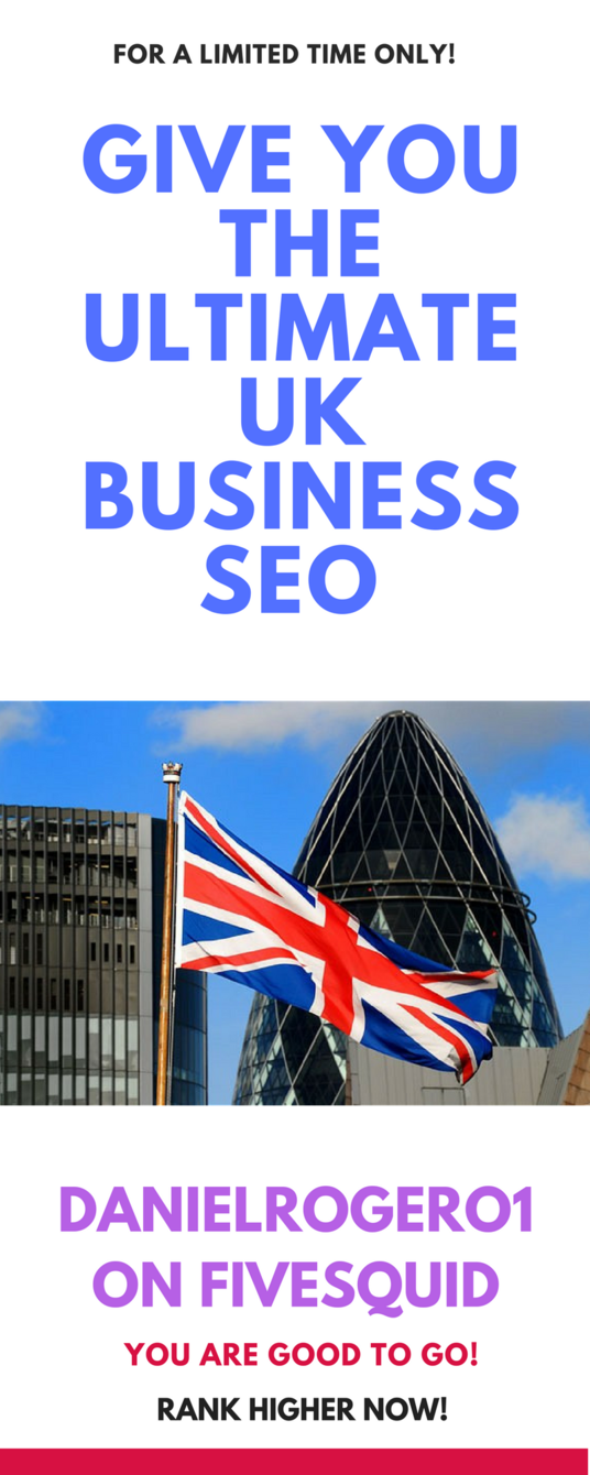 I will give you the ultimate UK business seo service to rank your site in Google