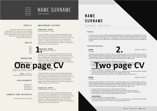 I will create you a new, contemporary and sleek CV to get you noticed