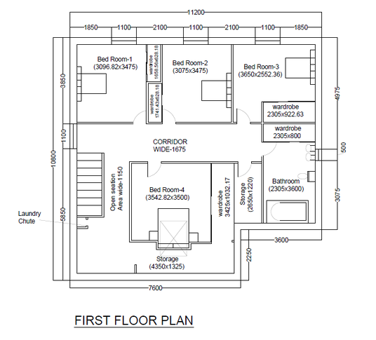 Redraw your floor plan in autocad for 5 archi fivesquid for Floor plan drafting services