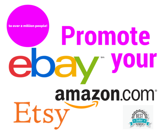 I will blog mention your website ETSY, amazon, ebay, pinterest or blog to 2 million people