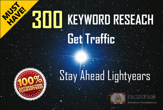 do Keywords Research, get TRAFFIC with 300 key phrases