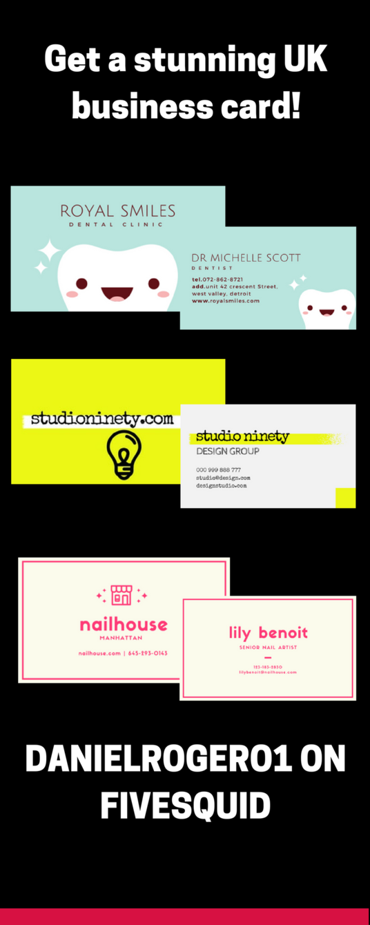 I will create a stunning and innovative UK business card for you to revolutionize your brand